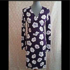 Old Navy Purple True Wrap Dress
